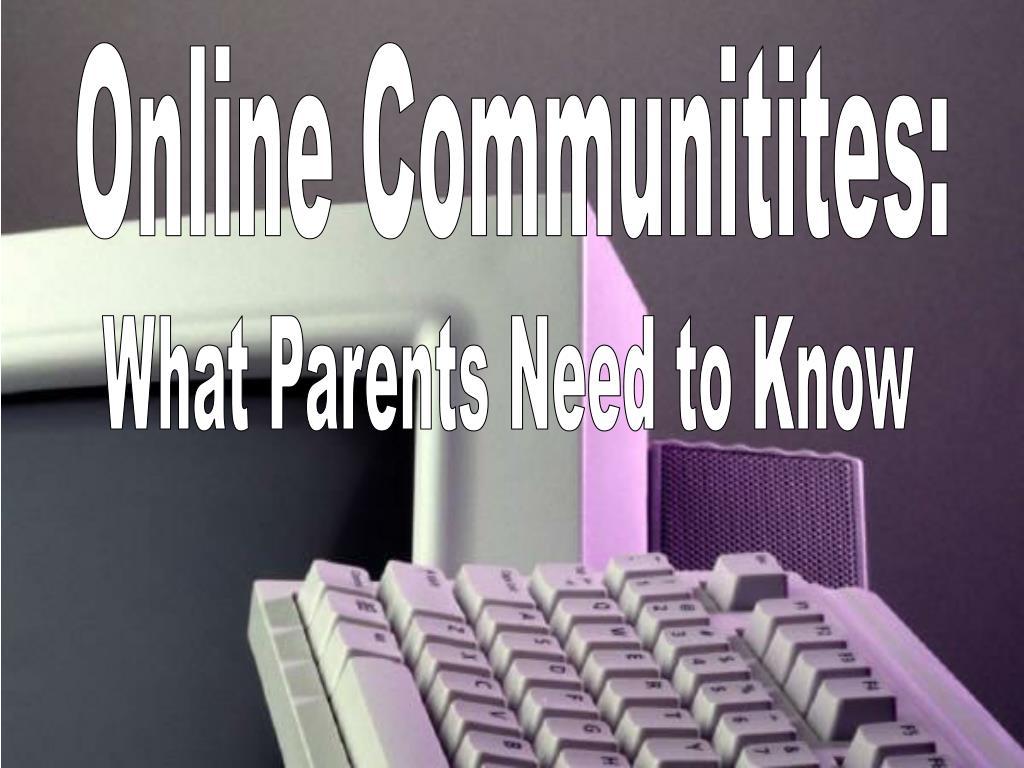 Online Communitites: