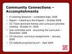 community connections accomplishments