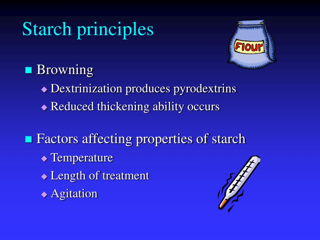 The main characteristics of starch and issues related to it