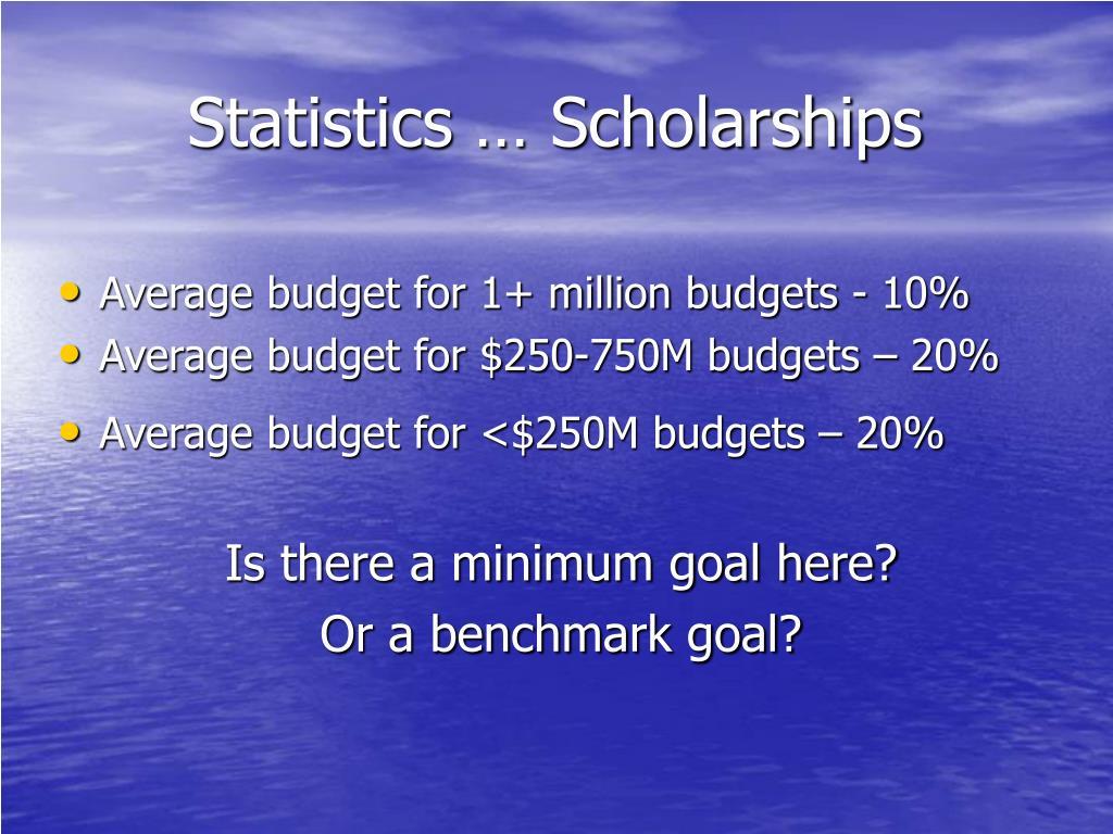 Statistics … Scholarships