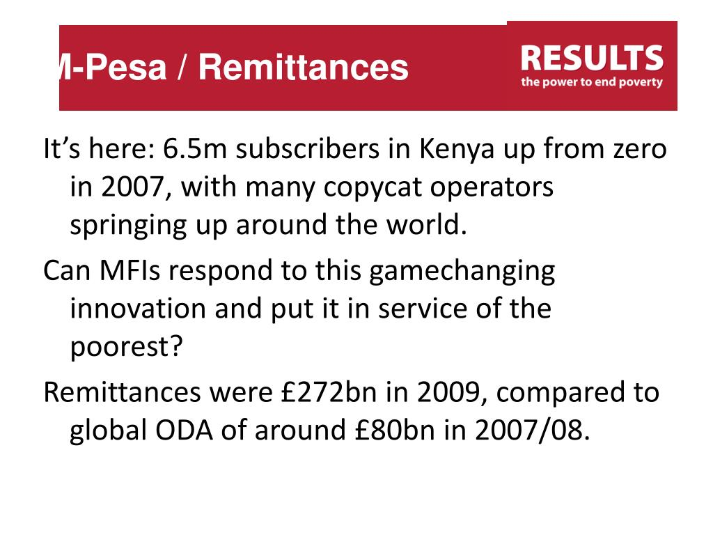 M-Pesa / Remittances