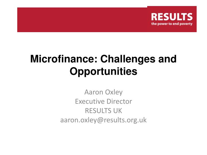 Microfinance challenges and opportunities l.jpg