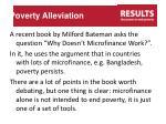 poverty alleviation