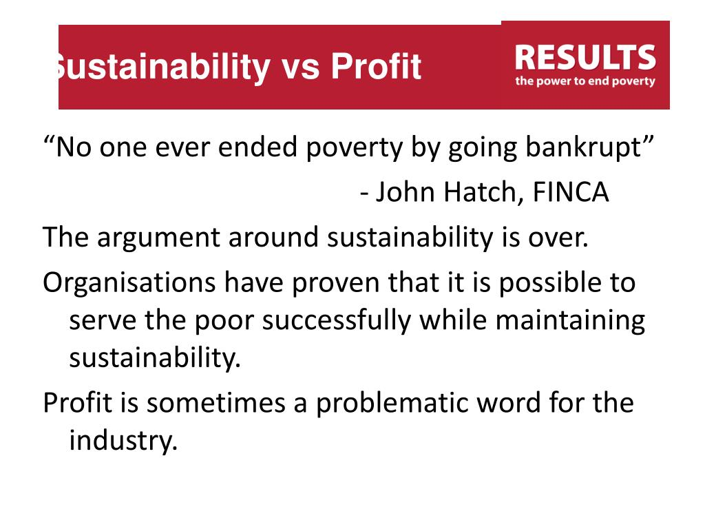 Sustainability vs Profit