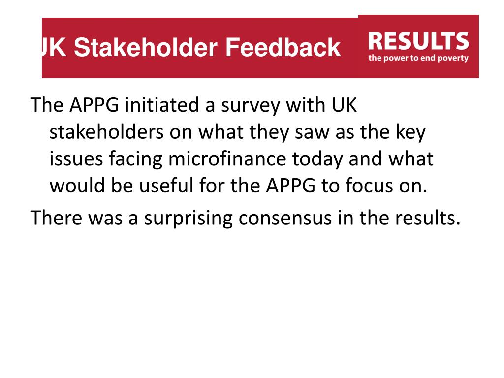 UK Stakeholder Feedback
