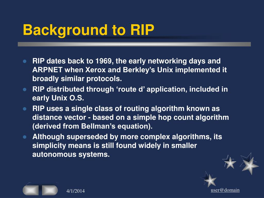 Background to RIP