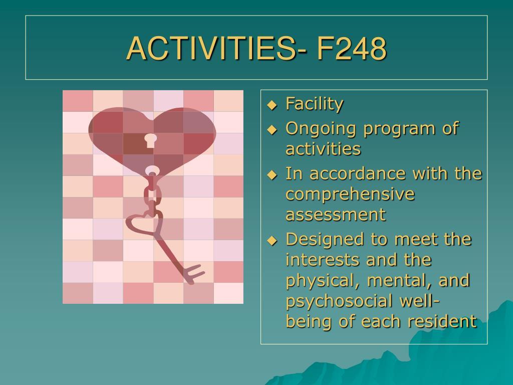 ACTIVITIES- F248