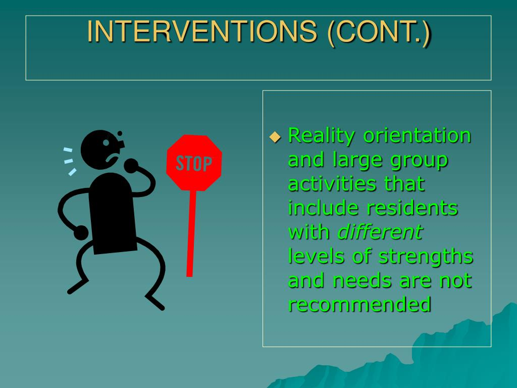 INTERVENTIONS (CONT.)