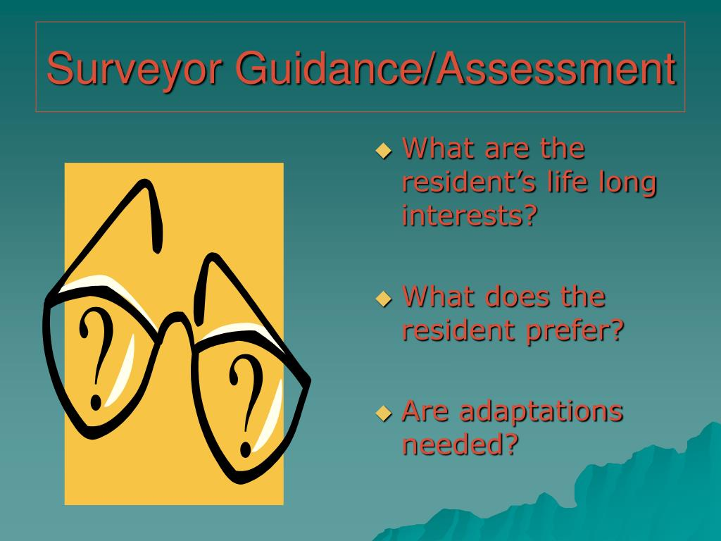 Surveyor Guidance/Assessment