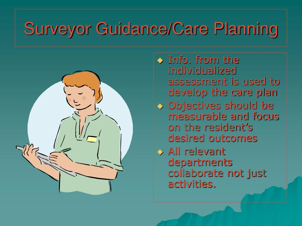 Surveyor Guidance/Care Planning