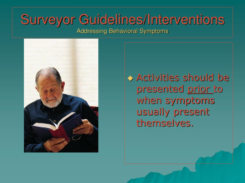 Surveyor Guidelines/Interventions