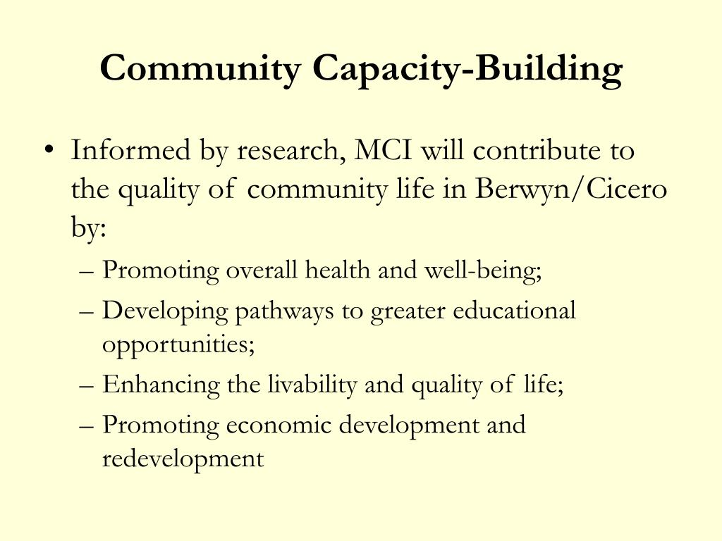 Community Capacity-Building
