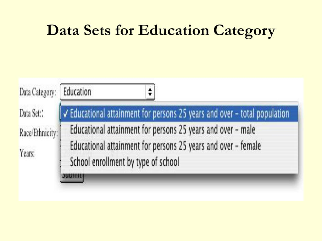Data Sets for Education Category