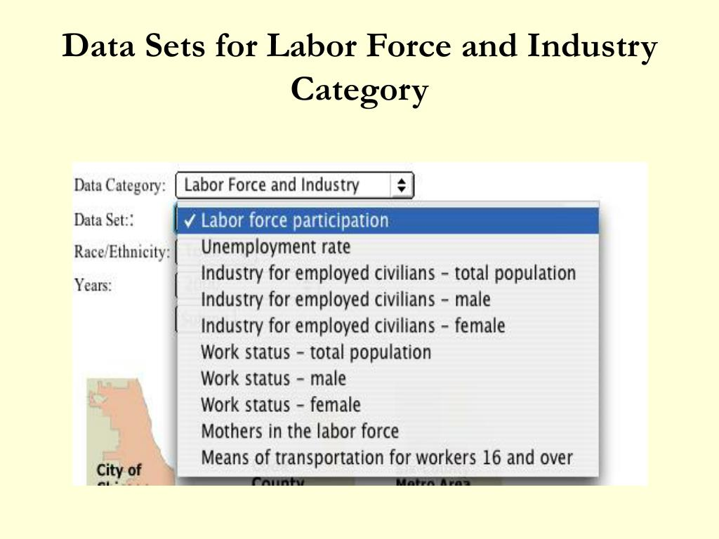 Data Sets for Labor Force and Industry Category