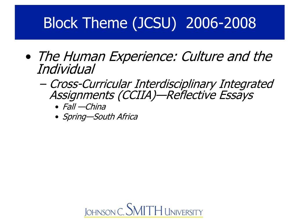 Block Theme (JCSU)  2006-2008