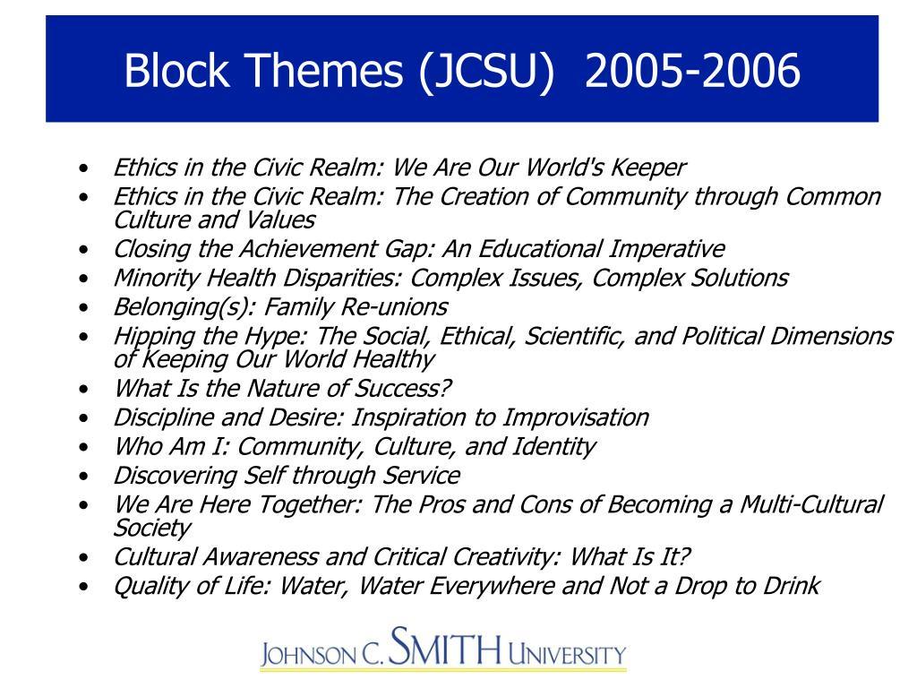 Block Themes (JCSU)  2005-2006