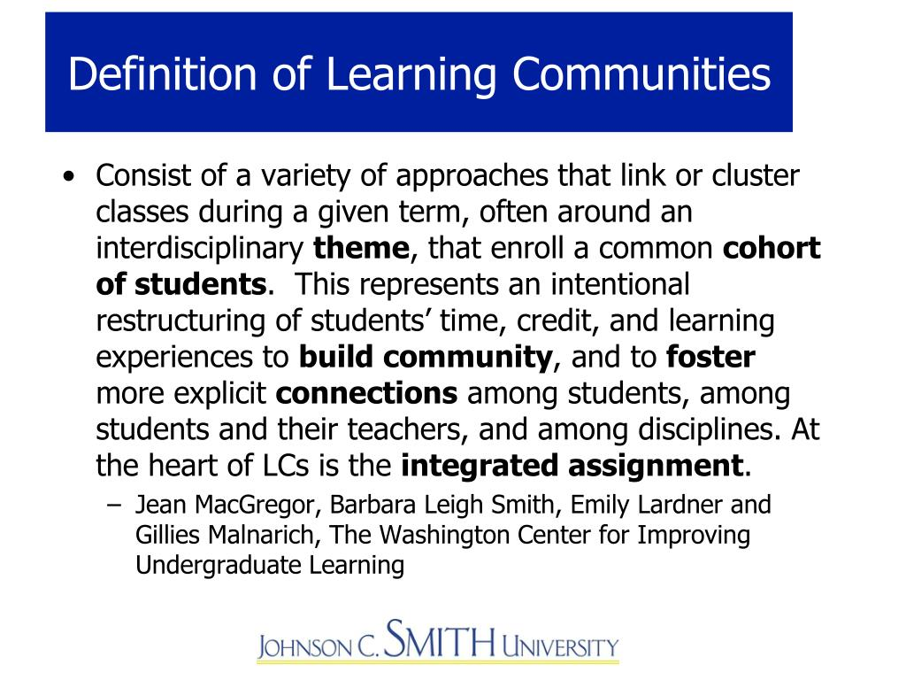 Definition of Learning Communities