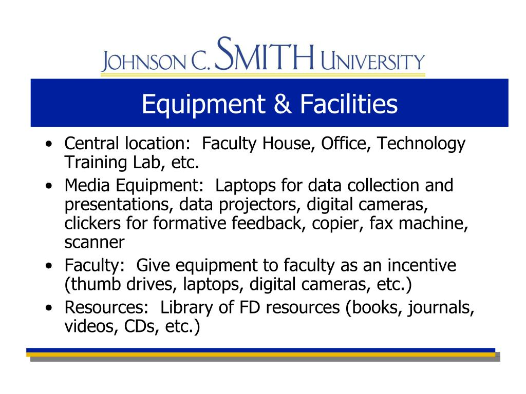 Equipment & Facilities