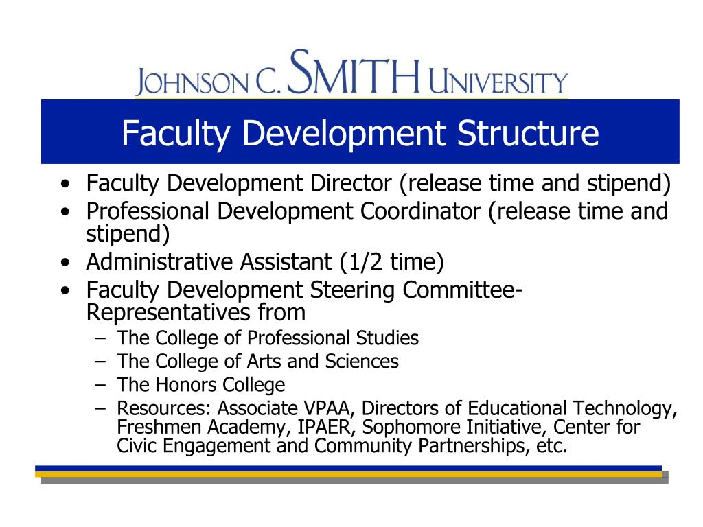 Faculty Development Structure