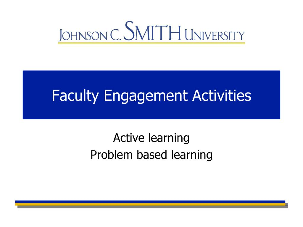 Faculty Engagement Activities