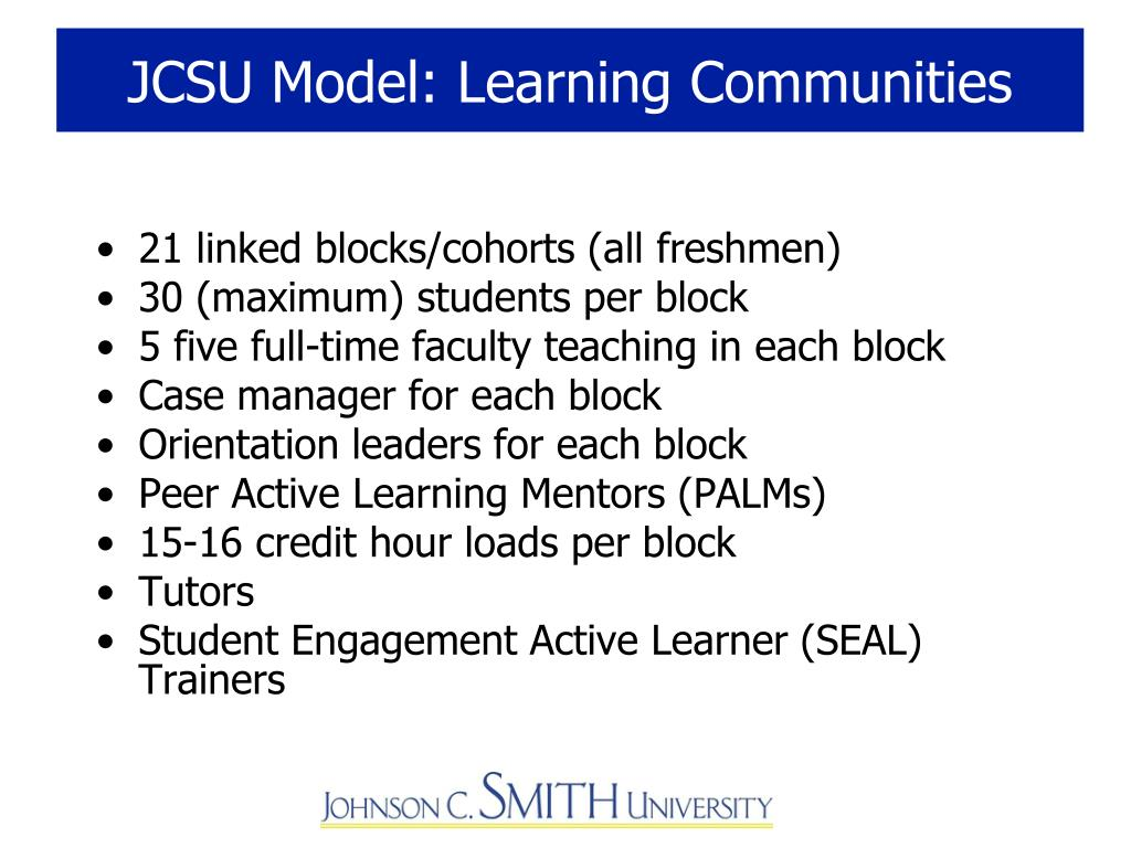 JCSU Model: Learning Communities
