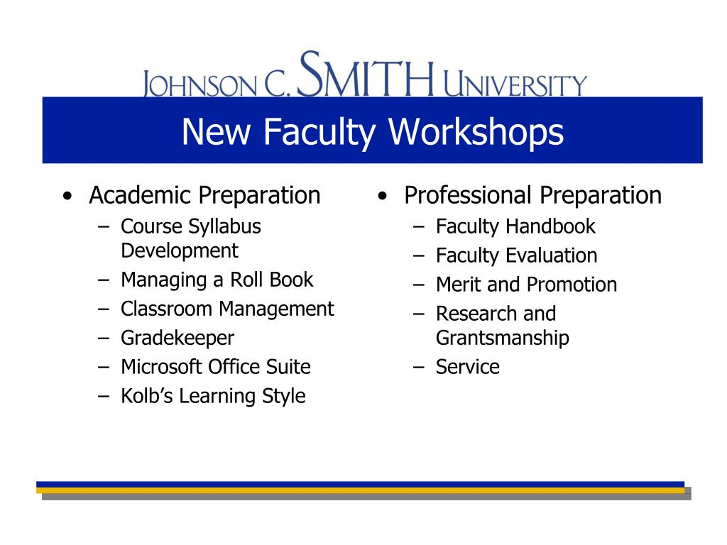New Faculty Workshops