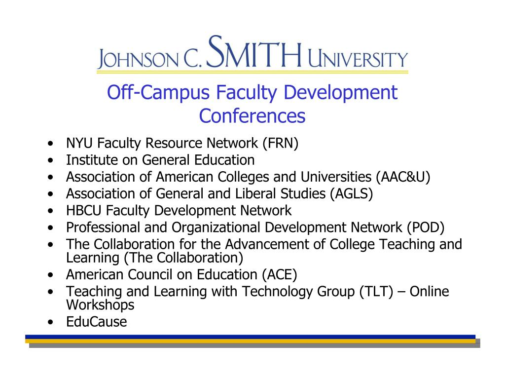 Off-Campus Faculty Development Conferences