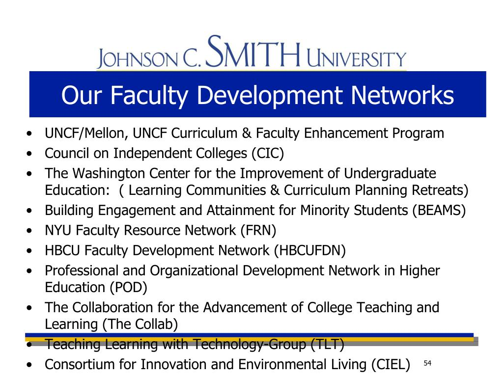 Our Faculty Development Networks