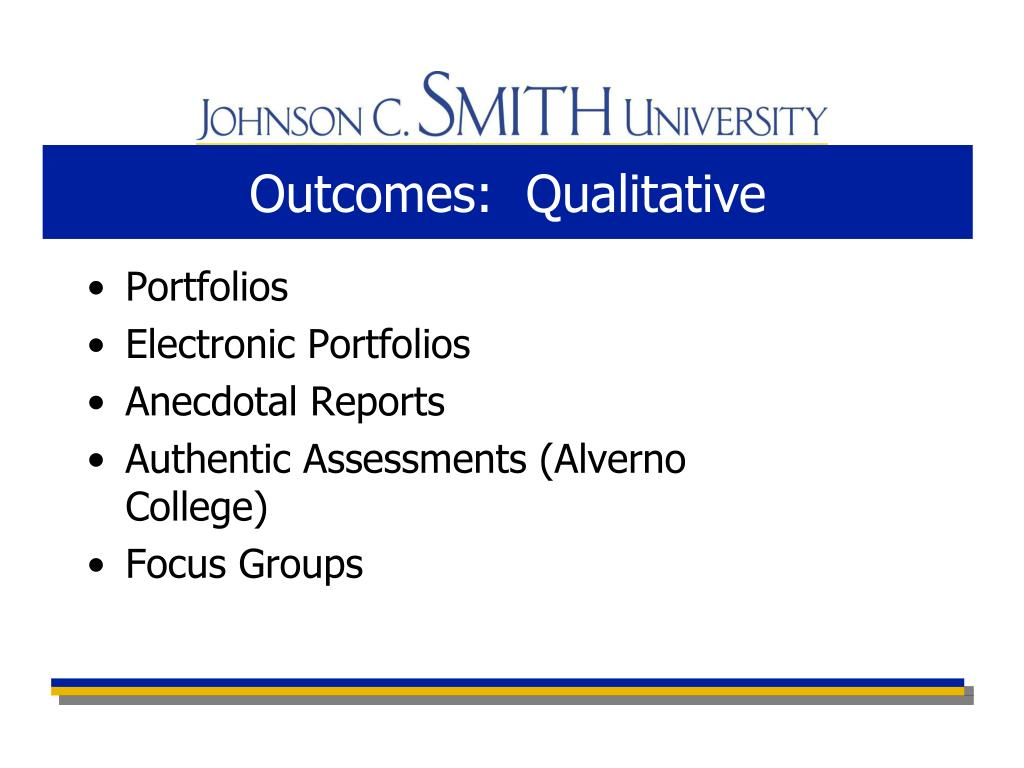 Outcomes:  Qualitative