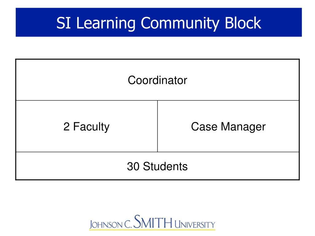 SI Learning Community Block