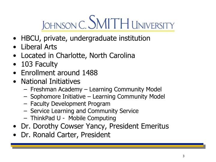 HBCU, private, undergraduate institution