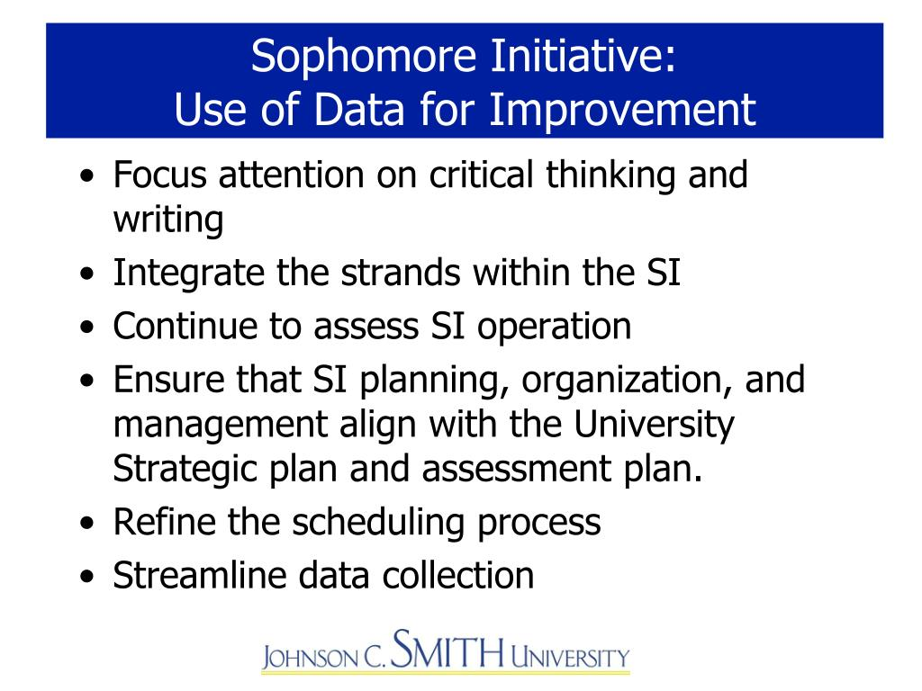 Sophomore Initiative: