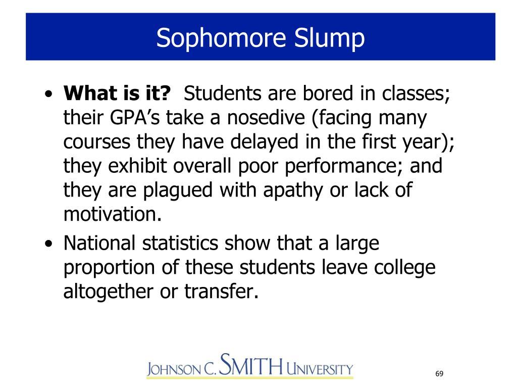 Sophomore Slump
