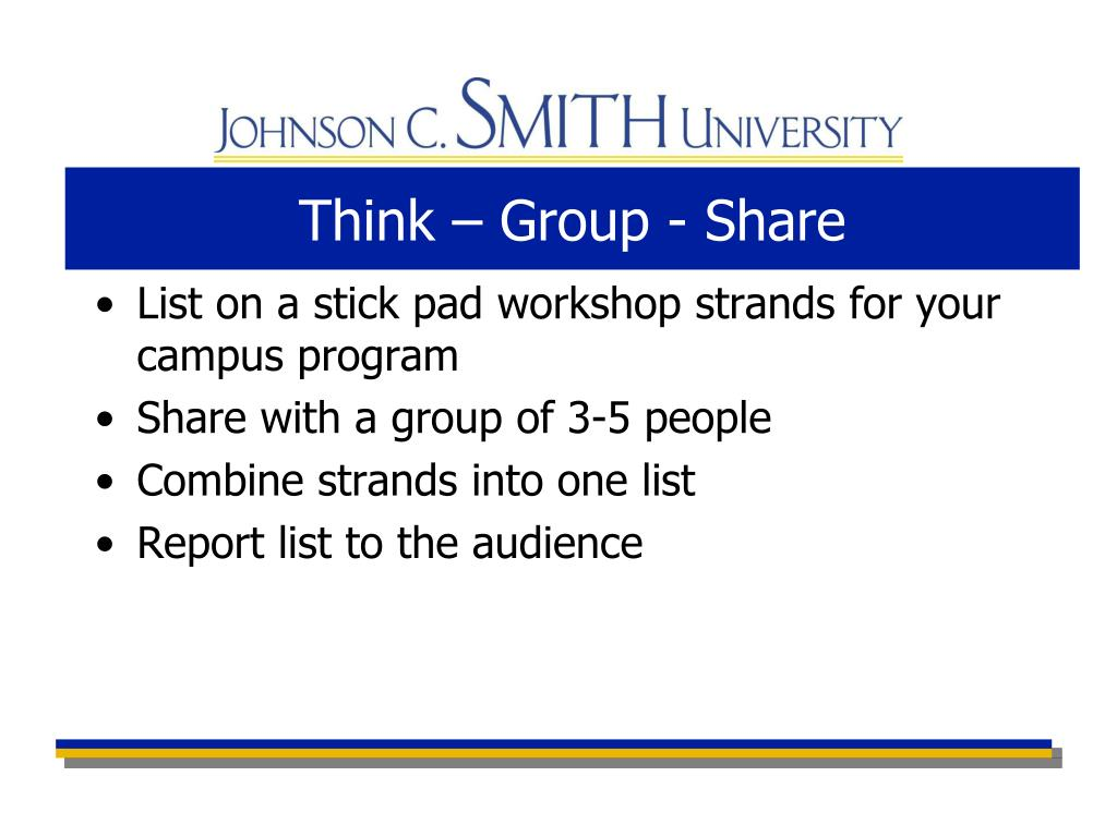 Think – Group - Share