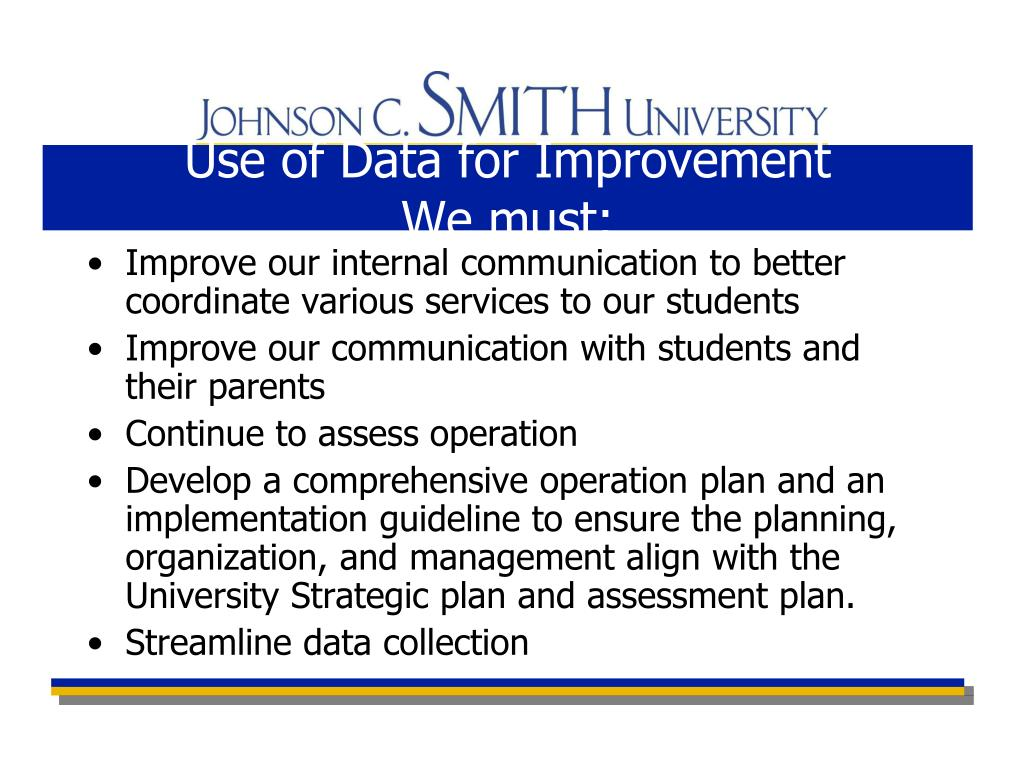 Use of Data for Improvement