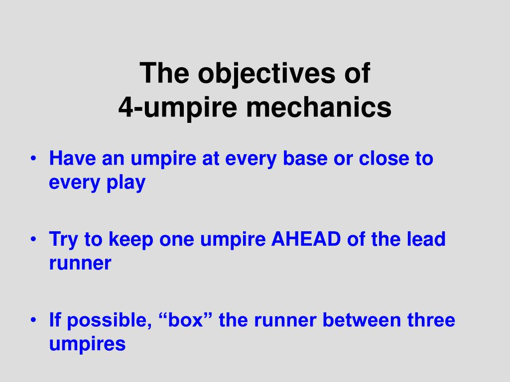 The objectives of
