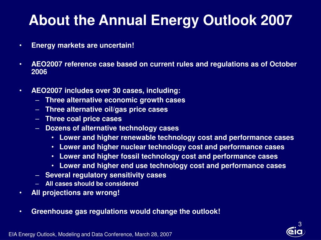 About the Annual Energy Outlook 2007