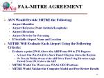 faa mitre agreement