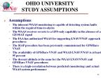 ohio university study assumptions