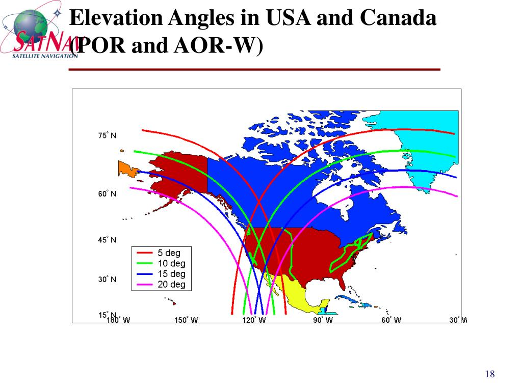 Elevation Angles in USA and Canada