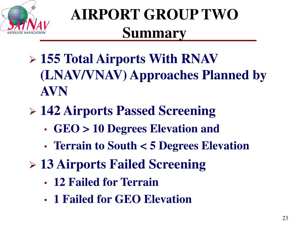 AIRPORT GROUP TWO