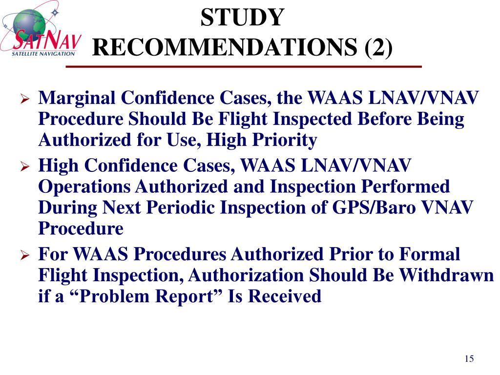 STUDY RECOMMENDATIONS (2)