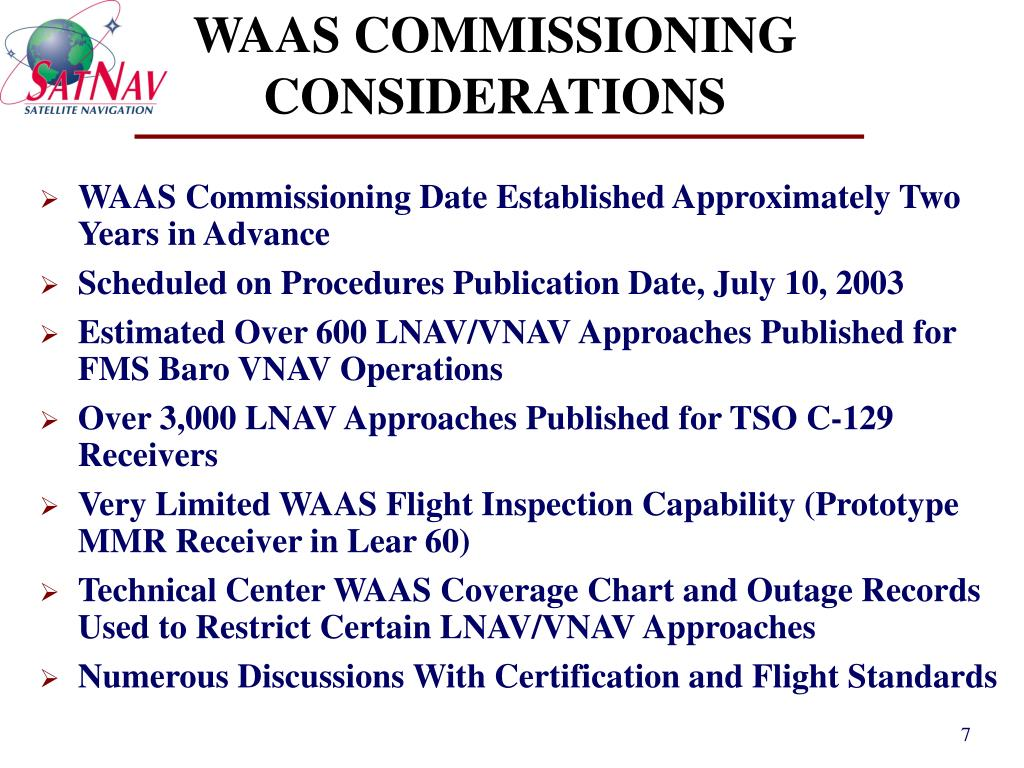 WAAS COMMISSIONING