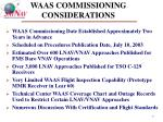 waas commissioning considerations