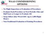 waas commissioning options