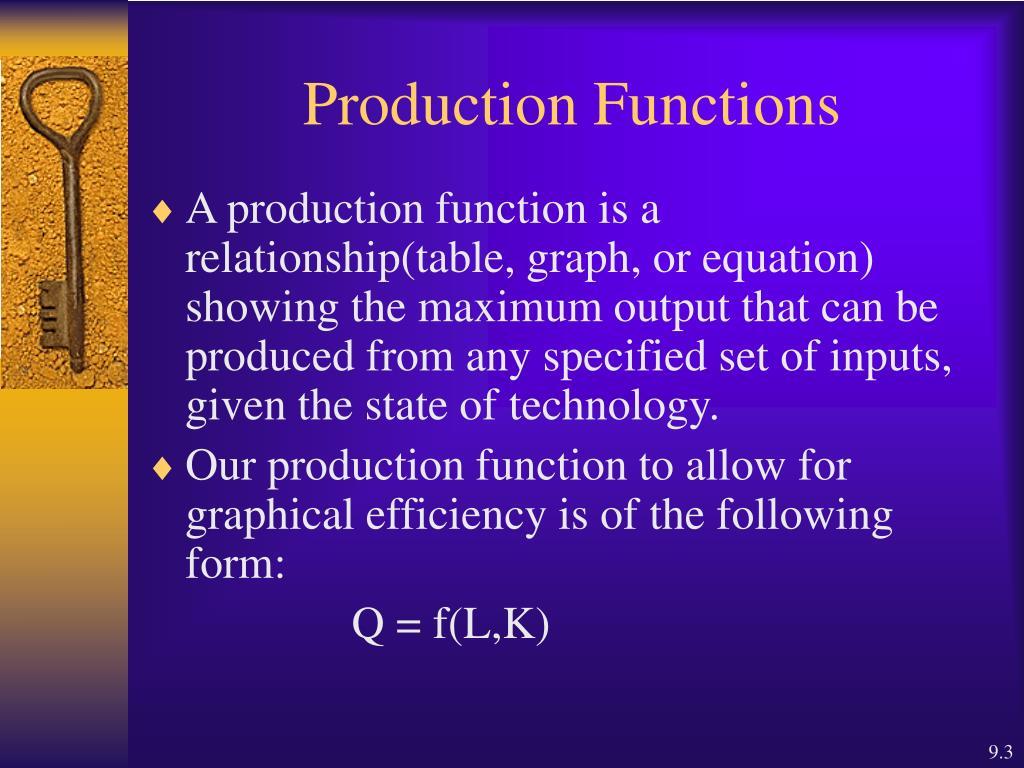 short run production function pdf