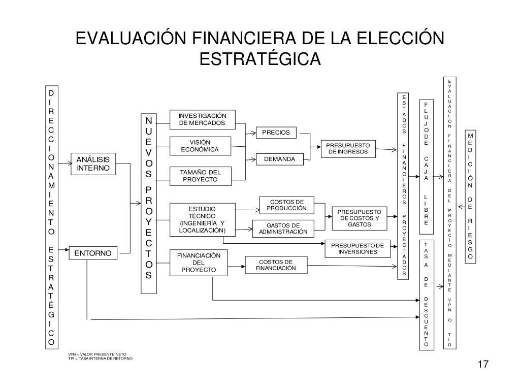 EVALUACIÓN FINANCIERA DE LA ELECCIÓN ESTRATÉGICA