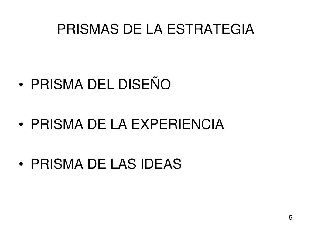PRISMAS DE LA ESTRATEGIA