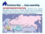 business map keep expanding
