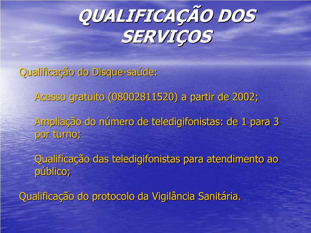 Qualificação do Disque-saúde: